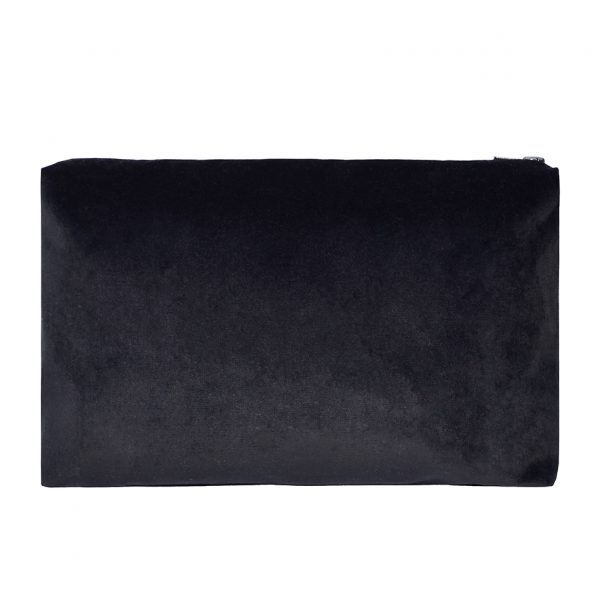 Zip Pouch Large Black Back Website ONE NINE EIGHT FIVE