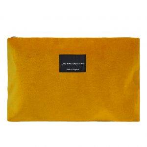 Zip Pouch Large Ochre Front website ONE NINE EIGHT FIVE b