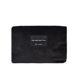 Zip Pouch Small Black Front website ONE NINE EIGHT FIVE b