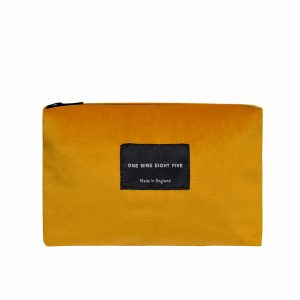Zip Pouch Small Ochre Front website ONE NINE EIGHT FIVE b