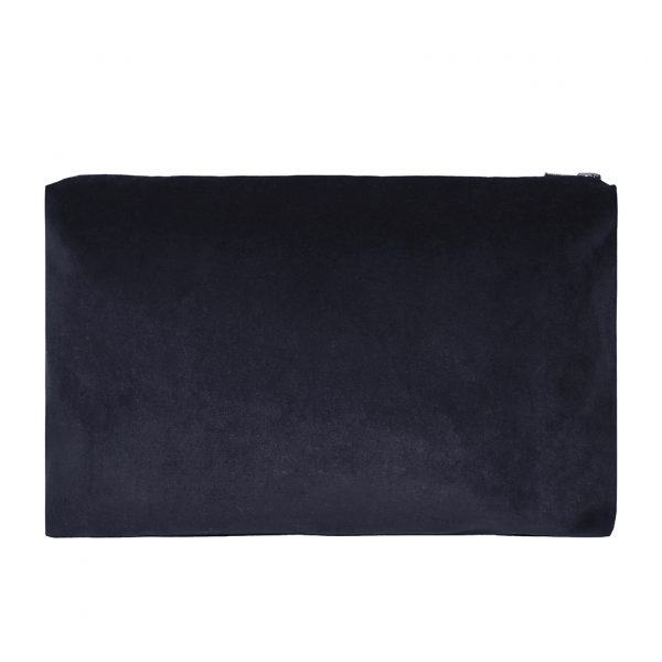Zip Pouch Large Grey Back ONE NINE EIGHT FIVE