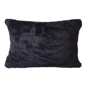 Sheepskin Cushion Bolster Wavy Black ONE NINE EIGHT FIVE