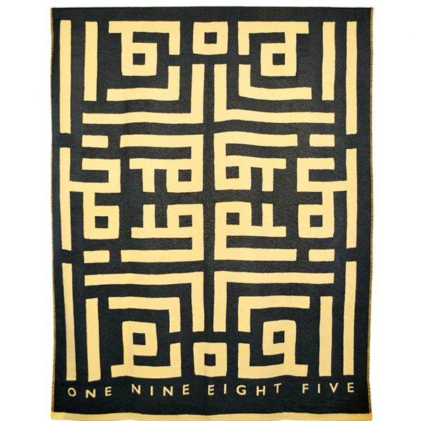 Labyrinth Throw Grey ONE NINE EIGHT FIVE website