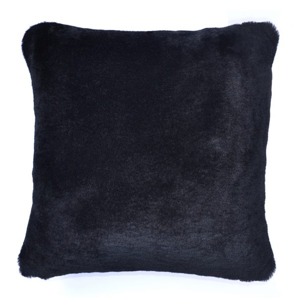 Sheepskin Cushion Black ONE NINE EIGHT FIVE