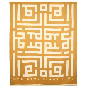 Labyrinth Throw Tan ONE NINE EIGHT FIVE website