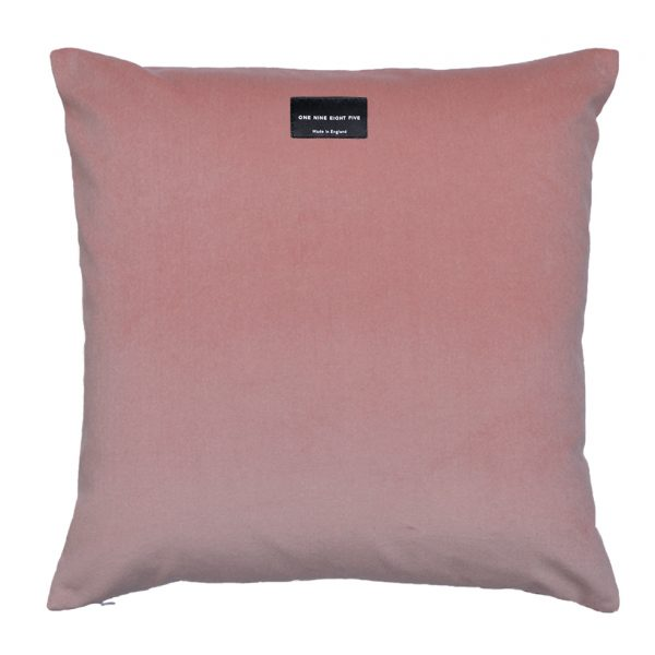 Tassel Cushion Pink Back ONE NINE EIGHT FIVE