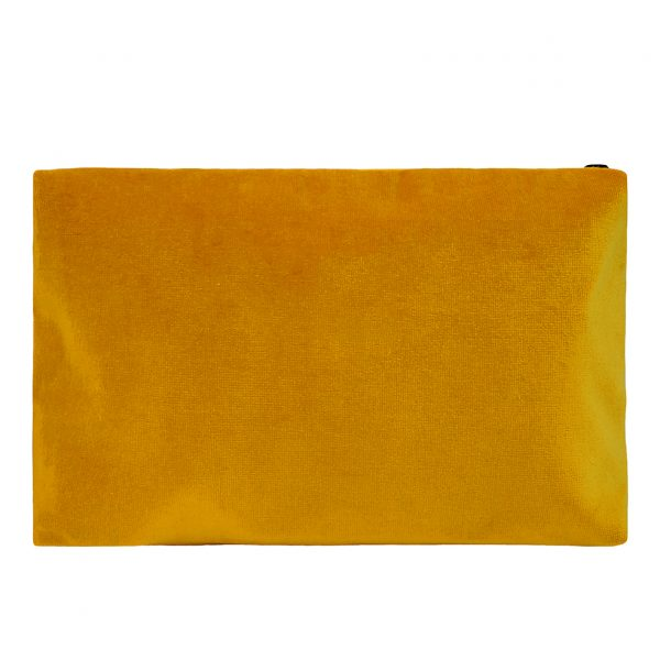 Zip Pouch Large Ochre Back Website ONE NINE EIGHT FIVE