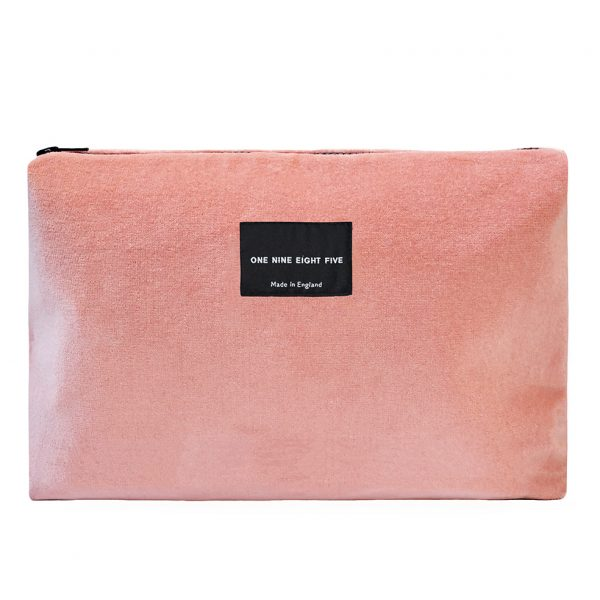 Zip Pouch Large Pink Front website ONE NINE EIGHT FIVE b