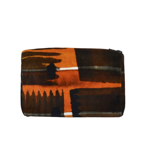 Zip Pouch Small Abstract Check Back Website ONE NINE EIGHT FIVE