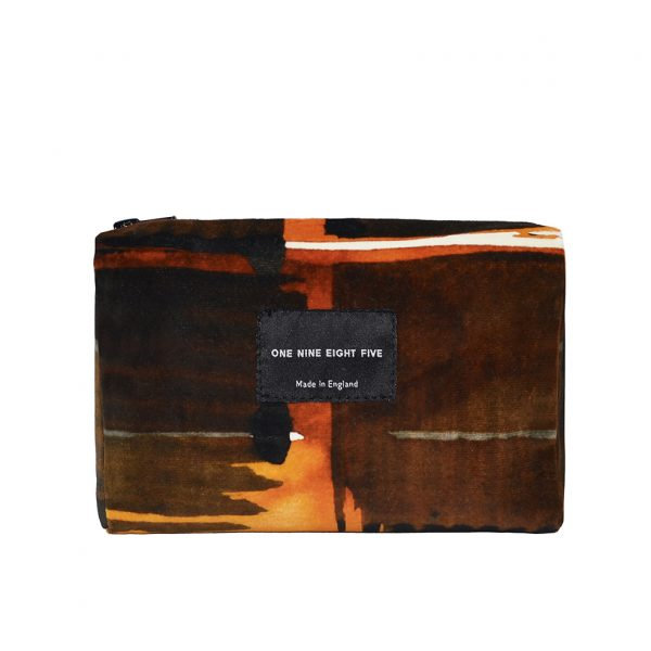 Zip Pouch Small Abstract Check Front website ONE NINE EIGHT FIVE b