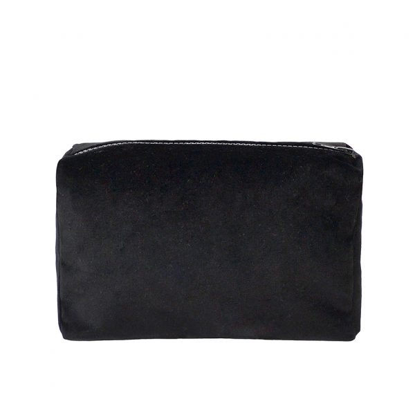 Zip Pouch Small Black Back Website ONE NINE EIGHT FIVE
