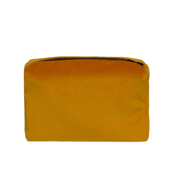 Zip Pouch Small Ochre Back Website ONE NINE EIGHT FIVE