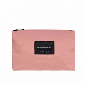 Zip Pouch Small Pink Front website ONE NINE EIGHT FIVE b