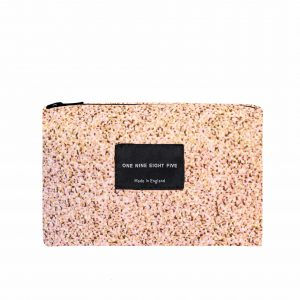 Zip Pouch Small Pixel Pink Front website ONE NINE EIGHT FIVE b