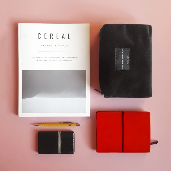 Black Zip Pouch Small Stationary Cereal mag Website