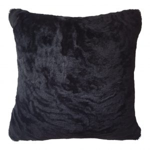 Sheepskin Cushion Black Wavy ONE NINE EIGHT FIVE