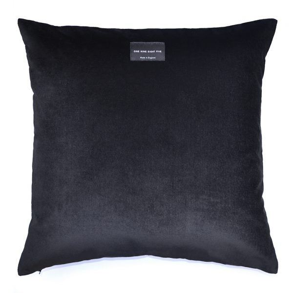 Tassel Cushion Black Back ONE NINE EIGHT FIVE