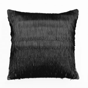 Tassel Cushion Black ONE NINE EIGHT FIVE