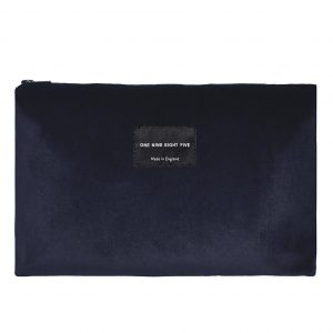 Zip Pouch Large Grey Front ONE NINE EIGHT FIVE