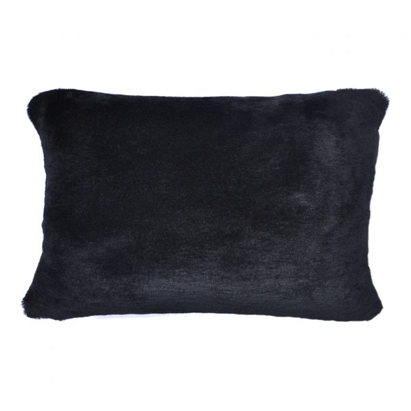 Sheepskin Cushion Bolster Black ONE NINE EIGHT FIVE