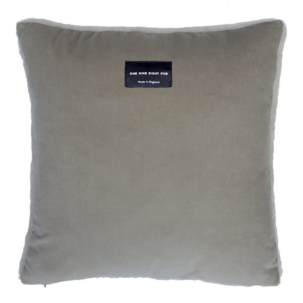 Sheepskin Cushion Taupe Back ONE NINE EIGHT FIVE
