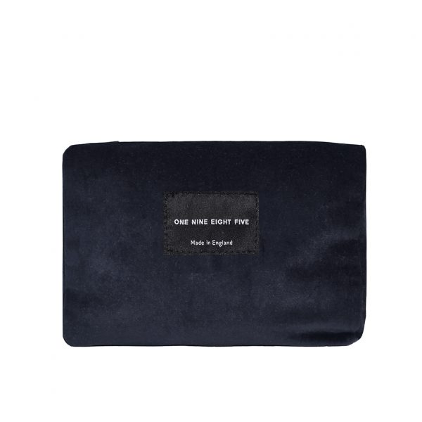 Zip Pouch Small Grey Front Website ONE NINE EIGHT FIVE