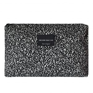 Zip Pouch Large Pixel Mono Front website ONE NINE EIGHT FIVE b