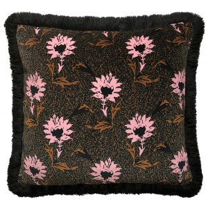 Flora Fringe Cushion Pink 40x40cm One Nine Eight Five Website