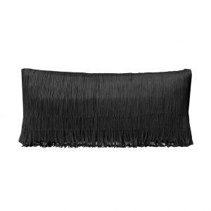 Tassel Cushion Black 30x60cm Website One Nine Eight Five