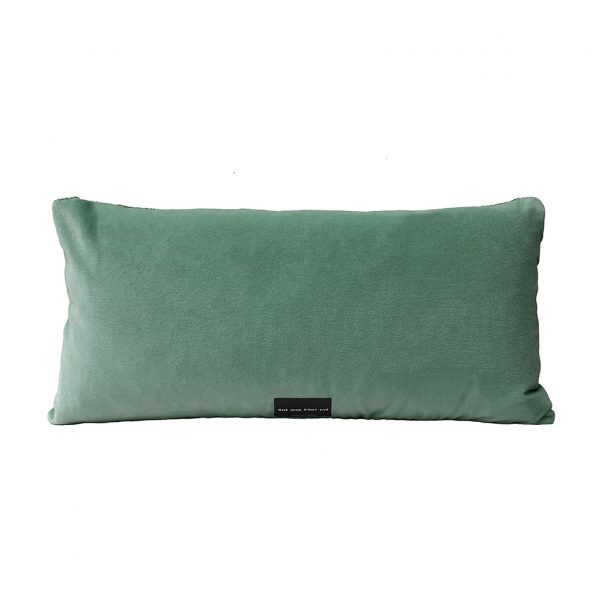 Tassel Cushion Jade Back 30x60cm Website One Nine Eight Five