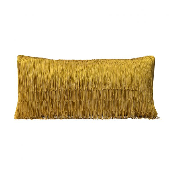 Tassel Cushion Ochre 30x60cm Website One Nine Eight Five
