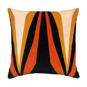 Ada Cushion Ochre Front 45x45cm One Nine Eight Five Website