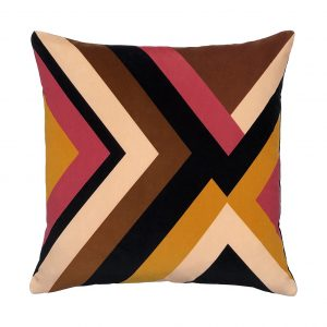 Agnes Cushion Brown Front 45x45cm One Nine Eight Five Website