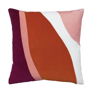 Claude Cushion Pink Front 40x40cm One Nine Eight Five Website