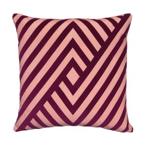 Dorsey Cushion Pink Front 45x45cm One Nine Eight Five Website