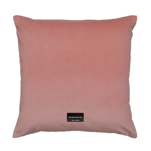 Lovell Cushion Pink Back 45x45cm One Nine Eight Five Website