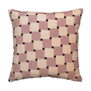 Lovell Cushion Pink Front 40x40cm One Nine Eight Five Website