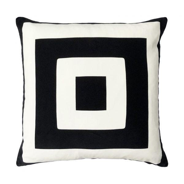 Nola Cushion Black Front 50x50cm One Nine Eight Five Website