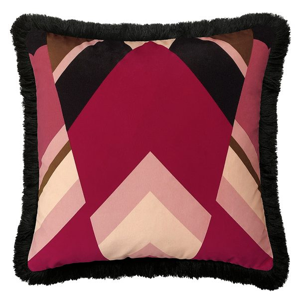 Priscilla Fringe Cushion Front 50x50cm One Nine Eight Five Website